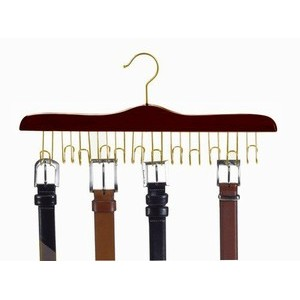 Specialty Belt Hanger - Walnut & Brass