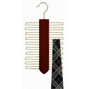 Specialty Vertical Tie Hanger - Walnut & Brass