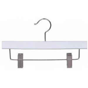 "White 10"" Children's Skirt/Pant Hanger"