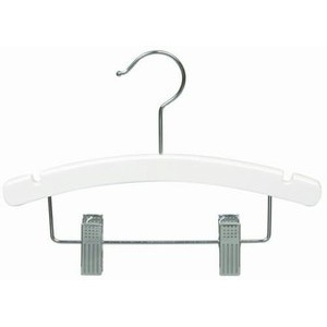 "White 10"" Combination Hanger w/ Clips"