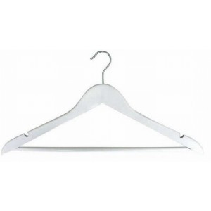 White Suit Hanger w/ Bar