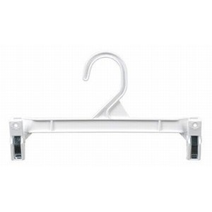 "Pinch Clip Skirt/Slack Hanger 9.5"" - White"