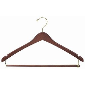 Contoured Suit Hanger w/ Locking Bar